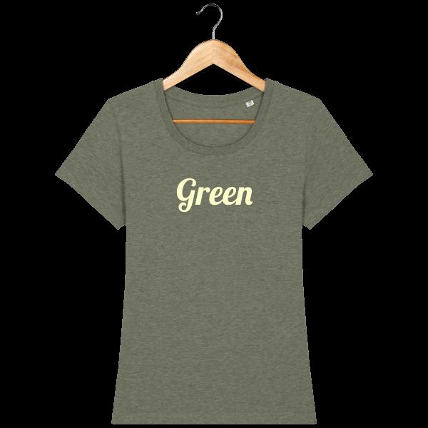 t-shirt-bio-brode-green-bottlegreen-beige_mid-heather-khaki_face