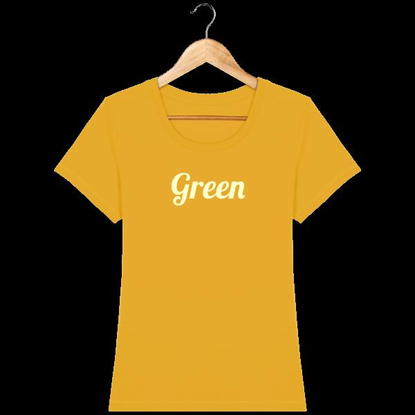 t-shirt-bio-brode-green-bottlegreen-beige_spectra-yellow_face