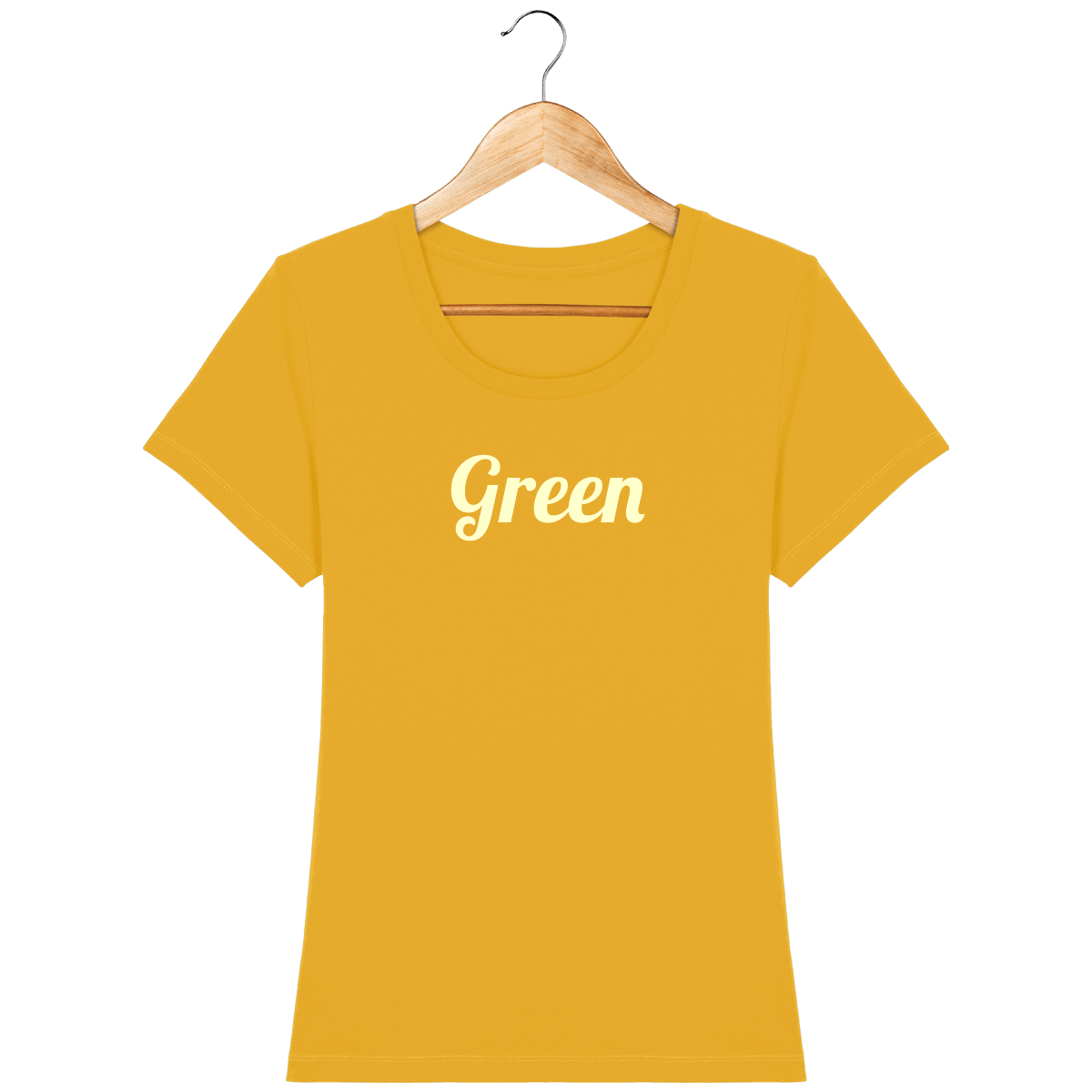 t-shirt-bio-brode-green-bottlegreen-beige_spectra-yellow_face