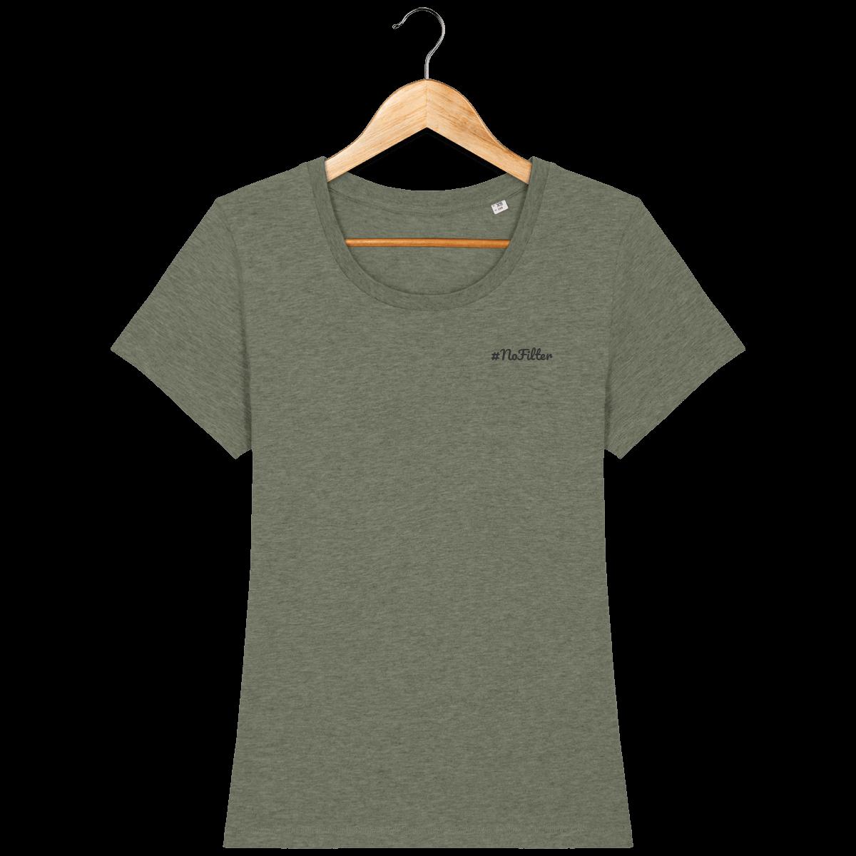 t-shirt-bio-brode-nofilter-caribbeanblue-darkgrey_mid-heather-khaki_face