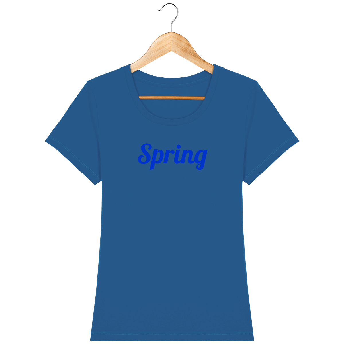 tee-shirt-femme-bio-brode-smile_royal-blue_face